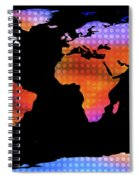 World Map Colourful Dots  Spiral Notebook