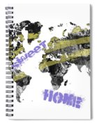 World Map Cool Spiral Notebook