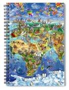 World Map Of World Wonders Spiral Notebook