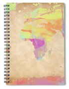 World Map Pastel Watercolors Spiral Notebook
