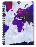 World Map - Purple Flip The Light Of Day - Abstract - Digital Painting 2 Spiral Notebook