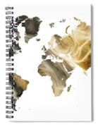 World Map Sandy World Spiral Notebook