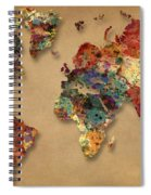 World Map Watercolor Painting 1 Spiral Notebook