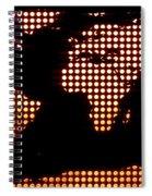 World Map Yellow Dots Spiral Notebook