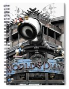 World Of Disney Signage Downtown Disneyland Sc Spiral Notebook