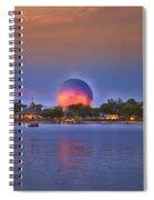 World Showcase Lagoon Sunset Spiral Notebook