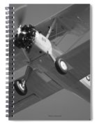 Stearman Trainer Bi Plane Black And White Spiral Notebook