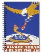 World War II 1939-1945 Anti Japanese Poster Sponsored By The Thirteenth Naval District Spiral Notebook