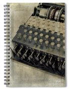 World War II Enigma Secret Code Machine Spiral Notebook