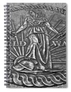 World War II Medallion Bw Spiral Notebook