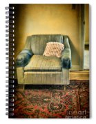 Worn Chair By Doorway Spiral Notebook