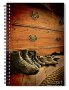 Worn Family Shoes Linded Up Spiral Notebook