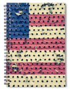 Worn Out American Flag Spiral Notebook