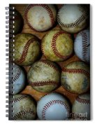 Worn Out Baseballs Spiral Notebook