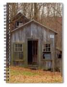 Worn Out Shed Spiral Notebook