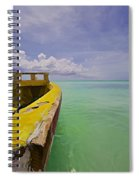 Worn Yellow Fishing Boat Of Aruba II Spiral Notebook