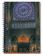 Worship In Notre Dame Spiral Notebook