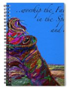 Worship The Father Spiral Notebook