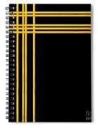 Woven 3d Look Golden Bars Abstract Spiral Notebook