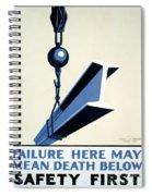 Wpa Vintage Safety First Spiral Notebook