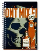 Wpa  Vintage Safety Poster Spiral Notebook