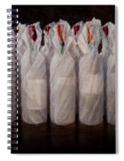 Wrapped Wine Bottles Spiral Notebook