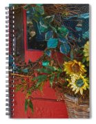 Wreath And The Red Door Spiral Notebook