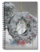 Wreath In A Snow Storm Spiral Notebook