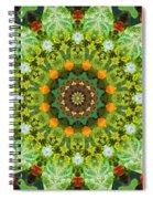 Wreath Kaleidoscope Spiral Notebook