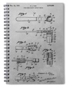 Wrench Patent Drawing Spiral Notebook