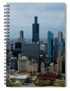 Wrigley And Us Cellular Fields Chicago Baseball Parks 3 Panel Composite 01 Spiral Notebook