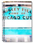 Wrigley Field Sign - X-ray Spiral Notebook
