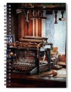 Writer - Typewriter - The Aspiring Writer Spiral Notebook