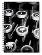 Writing The Great Novel - Black And White Spiral Notebook