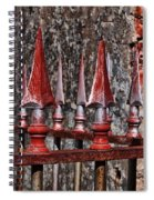 Wrought Iron Fence Spears Spiral Notebook