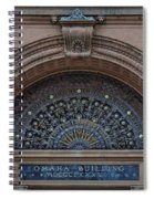 Wrought Iron Grille - The Omaha Building Spiral Notebook