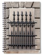 Wrought Iron Window Grille Spiral Notebook