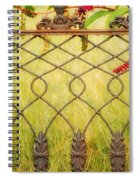 Wrought Iron With Red And Green Spiral Notebook