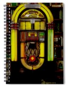 Wurlitzer 1946 Jukebox - Featured In Comfortable Art Group Spiral Notebook