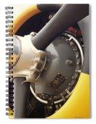 Ww II Airplane Engine Spiral Notebook