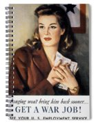 Ww II: Employment Service Spiral Notebook