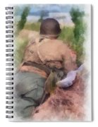 Ww II Us Army Soldier Photo Art Spiral Notebook