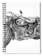 Ww2 Military Motorcycle Spiral Notebook