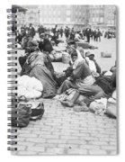 Wwi Refugees, C1914 Spiral Notebook