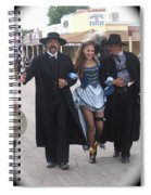 Wyatt Earp  Doc Holliday Escort  Woman  With O.k. Corral In  Background 2004 Spiral Notebook