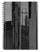 Wyoming Coal Mine Composition Black And White Spiral Notebook