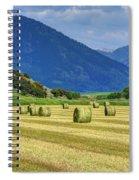 Wyoming Mountain Hay Farm Spiral Notebook