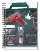 X-ray Of A Briefcase With A Gun Spiral Notebook