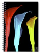 X-ray Of Three Lilies Spiral Notebook