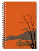 Abstract Tropical Birds Sunset Large Pop Art Nouveau Landscape 3 - Left Side Spiral Notebook